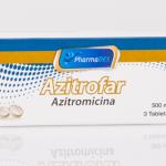 AZITROFAR: AZITROMICINA 500MG CAJA X 3 TAB.