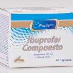 IBUPROFAR: IBUPROFENO 200MG. + CAFEINA 30MG.  CAJA X 48 CAP.
