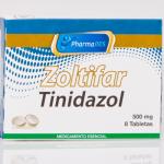 ZOLTIFAR: TINIDAZOL 500MG CAJA X 8 TAB.